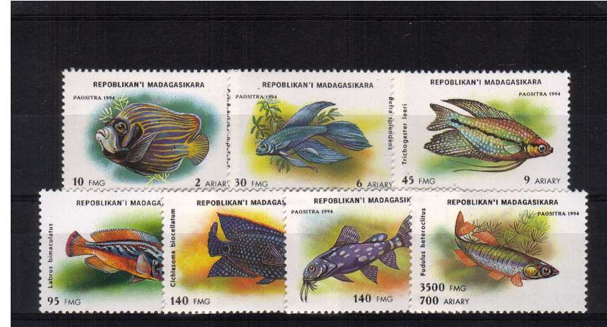 set of seven superb unmounted mint. <br/>SG Cat �00