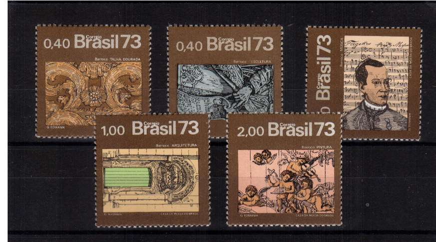揟he Baroque Age� set of five superb unmounted mint. SG Cat �