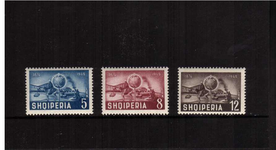 75th anniversary of Universal Postal Union set of three superb unmounted mint SG Cat �.75
