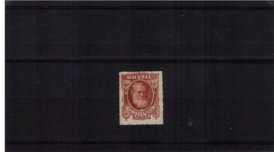 700r Brown-Red. A fine lightly mounted mint stamp. SG Cat �0