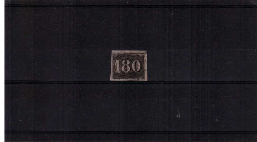 180r Black on Yellowish paper with reasonable margins. SG Cat �