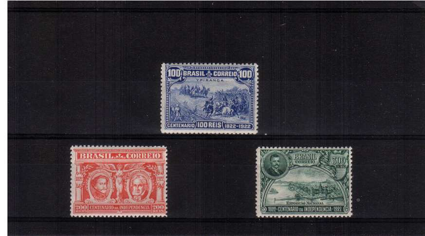 Independence Centenary set of three