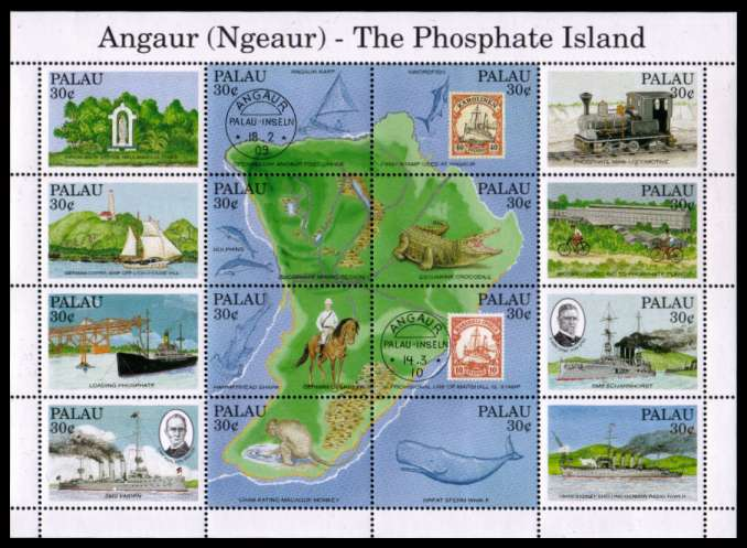 Angaur - The Phosphate Island sheetlet of sixteen superb unmounted mint. SG Cat �.00