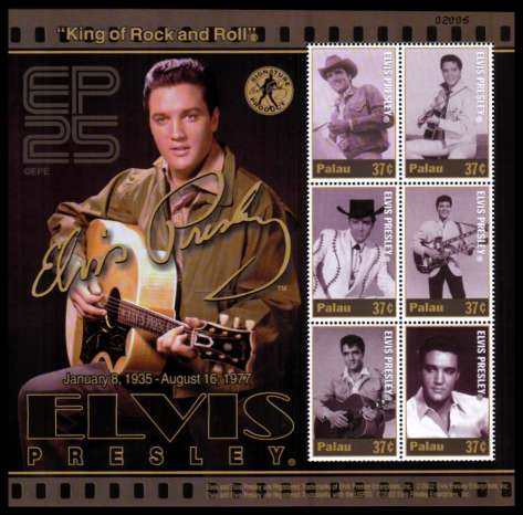 25th Death Anniversary of Elvis Presley minisheet of six superb unmounted mint.