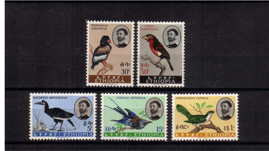 The ''POSTAGE'' Birds set of five superb unmounted mint.
