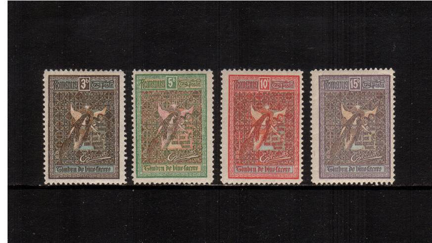 Welfare Fund set of four lightly mounted mint.<br/>A lovely bright and fresh set.