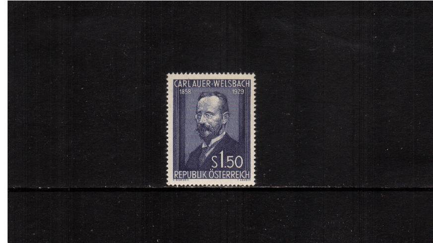 25th Death Anniversary of Dr. Auer von Welsbach - Inventor.