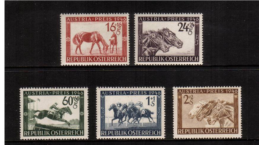 Austria Prize Race Fund<br/>A superb unmounted mint set of five