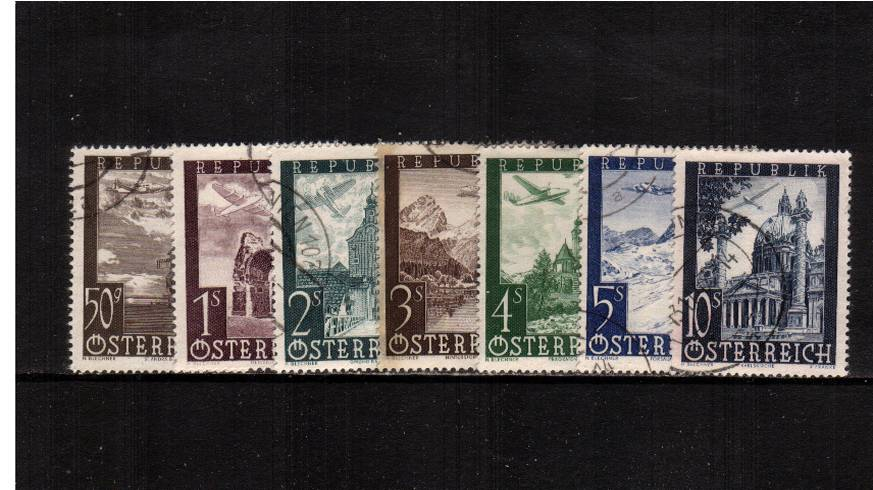 Airs set of seven superb fine used