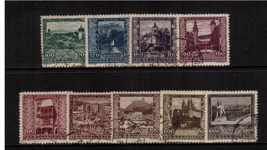 Artists' Charity Fund<br/>A superb fine used set of nine.