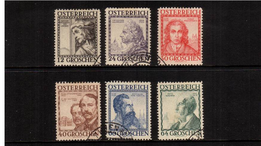 Welfare Funds - Austrian Architects.<br/>A superb fine used set of six