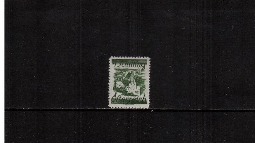 1s Deep Green - Minorite Church, Vienna.<br/>A fine lightly mounted mint single.