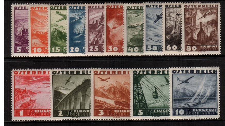 The AIRS set of fifteen superb unmounted mint.<br/>A difficult set to find unmounted!