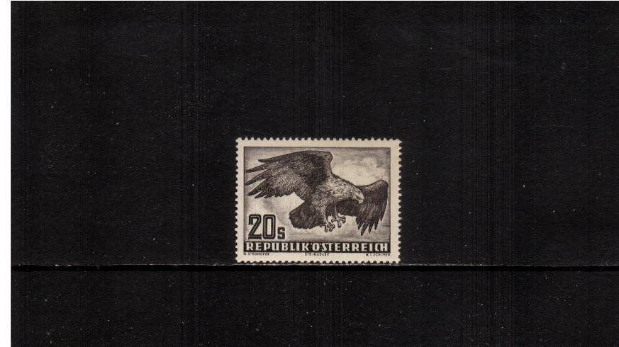 20s Blackish Brown on Greyish Paper - Yellowish Gum.<br/>A superb unmounted mint single.