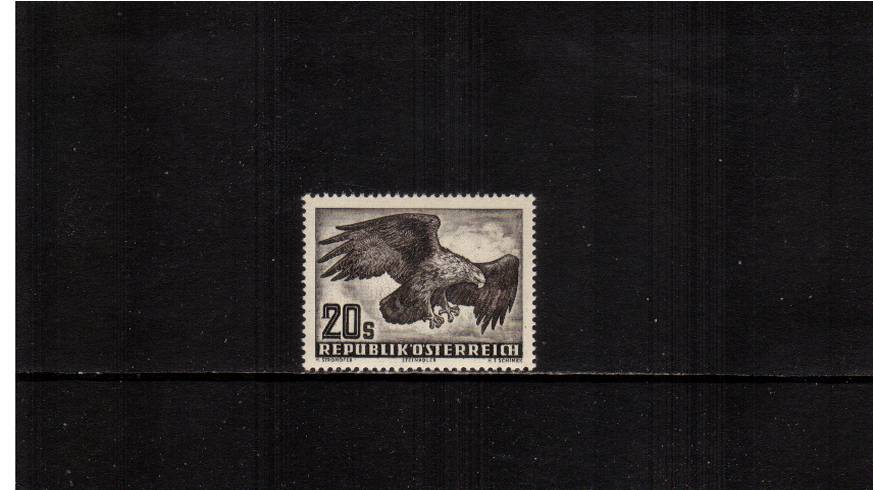 20s Blackish Brown on White Paper - White Gum.<br/>