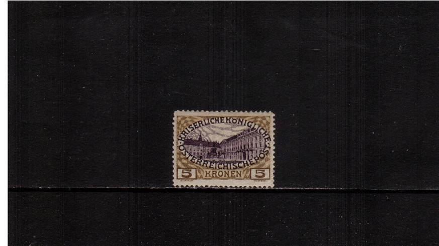 5K Purple and OLive-Brown<br/>A fine lightly mounted mint single