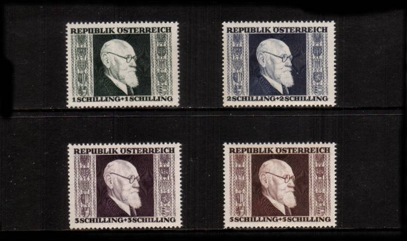 1st Anniversary of Establishment of Renner Government.<br/>A superb unmounted mint set of four.