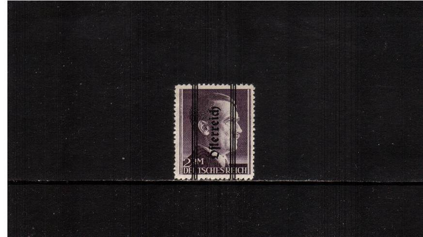 2RM Violet overprinted ''Osterreich'' - 18絤m - Perforation 12�br/>A good lightly mounted mint single.