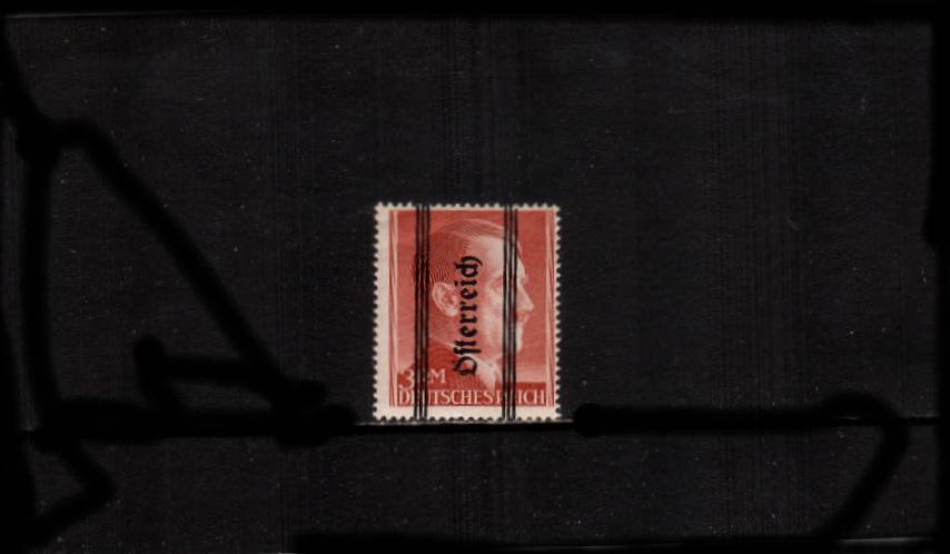 3RM Brown-Red overprinted ''Osterreich'' - 18絤m - Perforation 14<br/>A good lightly mounted mint single.