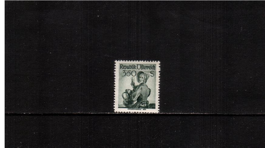 3s 50g Deep Green ''Provincial Costumes'' definitive.<br/>A superb unmounted mint single