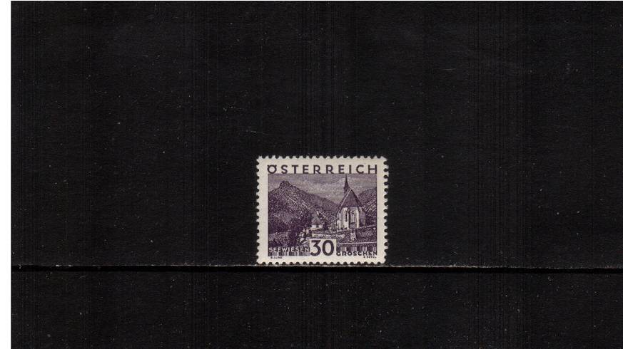 30g Deep Violet ''Views'' definitive single<br/>A superb unmounted mint single