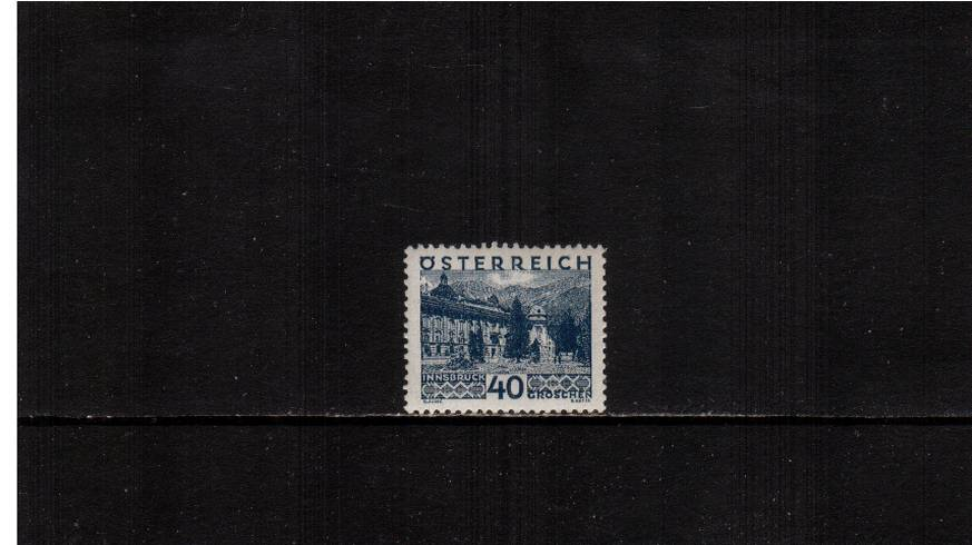 40g Deep Blue ''Views'' definitive single<br/>A superb unmounted mint single