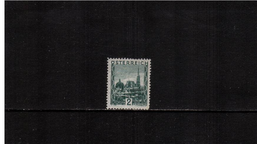 2s Green ''Views'' definitive single - 21x25絤m<br/>An unmounted mint single with a feint vertical crease.