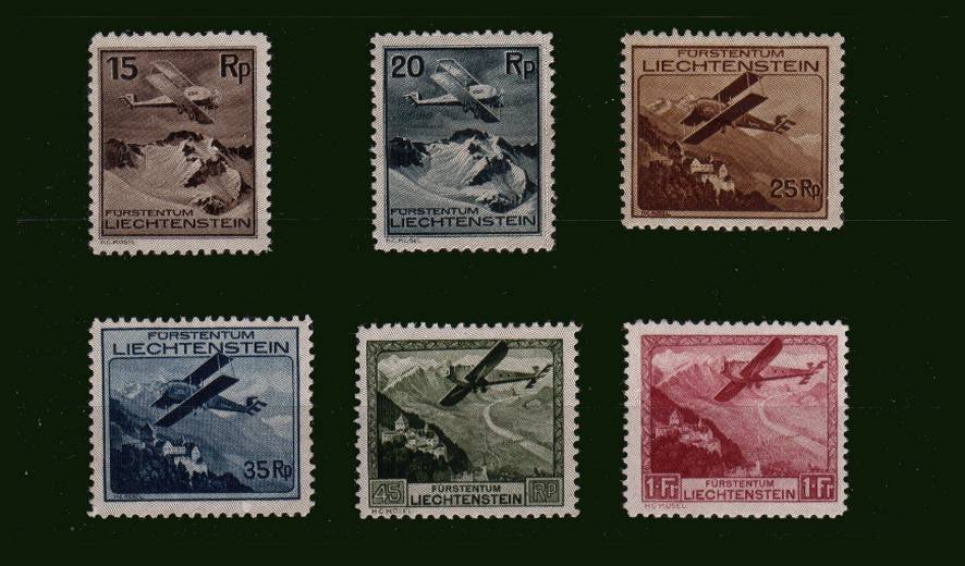 The AIR set of six superb very, very lightly mounted mint.