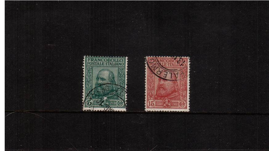 50th Anniversary of Plebiscite in Naples and Sicily<br/>A superb fine used set of two. SG Cat �2