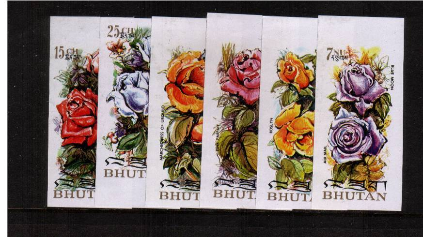 Roses set of six superb unmounted mint IMPERFORATE set of six.<br/>NOTE not listed in SG but listed in MICHEL
