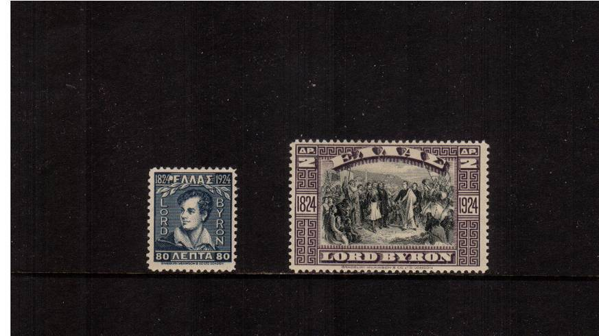 Lord Byron Centenary set of two lightly mounted mint.