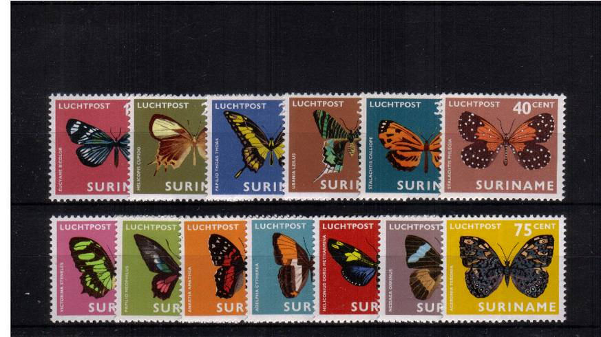 The Moths and Butterfies set of thirteen superb unmounted mint.