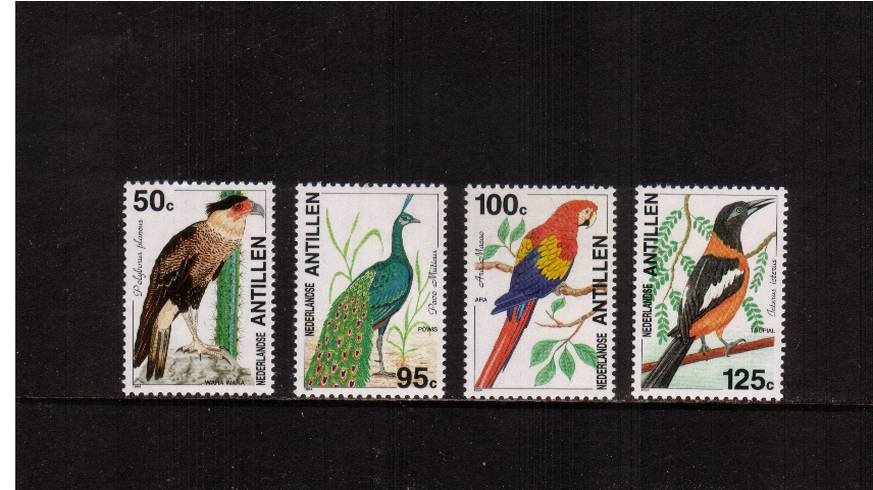 Birds set of four superb unmounted mint