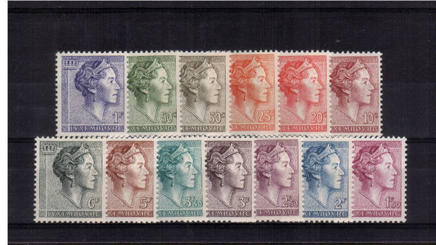Grand Duchess Charlotte definitive set of thirteen superb unmounted mint.